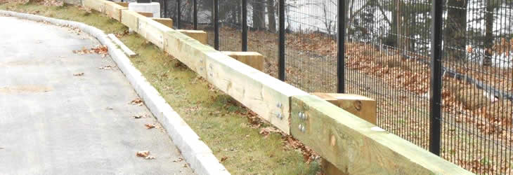 Wood Amp Steel Guardrail Newquality Fence Corp Westford Ma